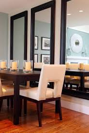 Mirrors In Decorating Decorating A Dining Room Wall With Triple Vertical Large Mirrors