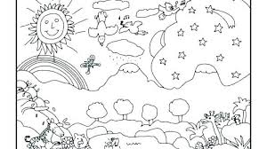 Coloring Pages Creation Coloring Page Days Of Pages 7 Free Sh