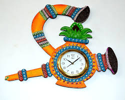 Small Picture Buy Handmade Papermache Wall Clock Watch Online Craftsvilla