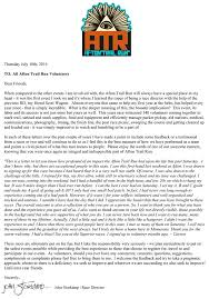 letter for volunteers 2014 volunteer thank you afton trail run