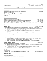 College Student Internship Resume Resume Samples For College