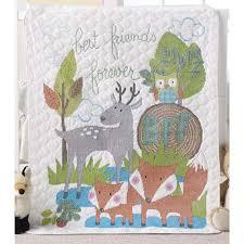Bucilla® Best Friends Baby Quilt Stamped Cross-Stitch & Bucilla® Best Friends Baby Quilt Stamped Cross-Stitch Kit Adamdwight.com