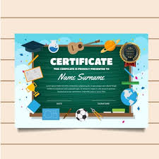 Children Certificate Template Cute Education Classroom Theme Children Certificate Of Achievement
