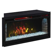 comfort smart 28 in contemporary infrared electric fireplace insert cs 28irm