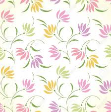 Bedsheet Fancy Seamless Floral Background Royalty Free Cliparts