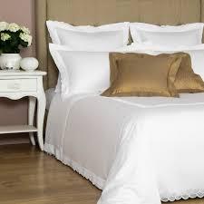 mistletoe lace duvet cover set in white white by frette