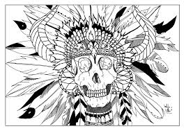 Small Picture skull indian par valentin Native American Coloring pages for