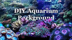 Aquarium Backgrounds How To Diy Aquarium Background Youtube