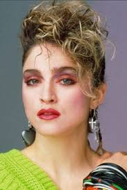 young madonna with super heavy blush almost looks like kabuki makeup madonna madonna