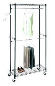 clothes rack ikea nl z clothing garment commercial grade steel supreme double rod black rolling shelves double garment rack