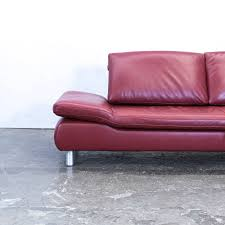 Koinor Volare Leather Corner Sofa Red Function Couch Modern