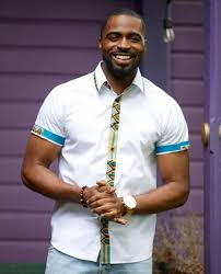 Image result for black men ankara casual style