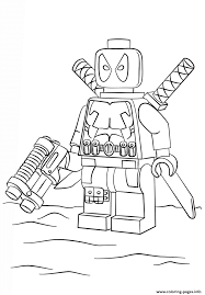 You can even print out some and also hold a coloring competitors amongst your children or your class. Lego Deadpool Coloring Pages Printable