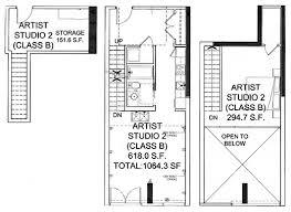 Floor plan of artist live-work studio #5