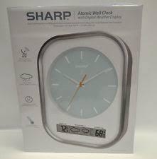 sharp wireless outdoor sensor. sharp scp1100 atomic wall clock outdoor sensor w/ digital weather display wireless h