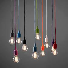 Modern Ceiling Rose Fabric Cable Pendant Lamp Holder Light Fitting