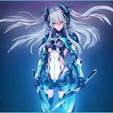 Mecha Girl White Hair Swords Anime ...