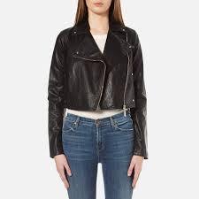 versace jeans women s biker jacket black image 1