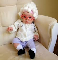 diy little old lady baby costume
