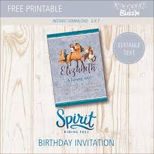 Birthday Party Evites Free Printable Spirit Riding Free Birthday Party Invitations
