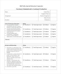 Employee Performance Evaluation Form Review Sample Forms Us On ...