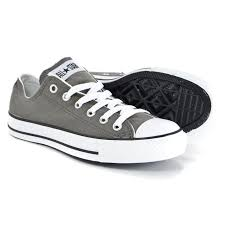 converse shoes for girls black. converse chuck taylor low top charcoal (grey) canvas new in box for kids (3j794) converse shoes for girls black