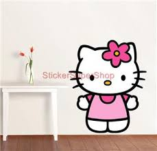 HELLO KITTY - WALL STICKER CHOOSE DESIRED SIZE: You may choose between 3  different sizes