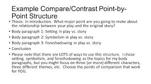 Example Comparison Essay Comparison Essay Outline Example