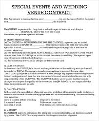 Catering Agreement Catering Contract Sample Template Business