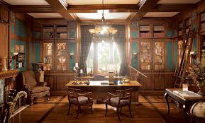 traditional office design. european traditional home office design