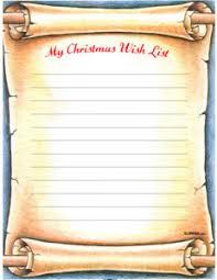 Blank Christmas List Printable Christmas Wish Lists Amys Wandering