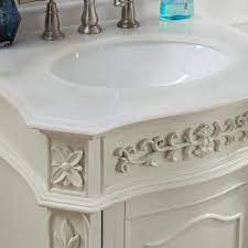 Home Decorators Collection Winslow 26 In W X 22 In D Bath Vanity In Antique White With Vanity Top In White Marble With White Basin Bf 27000 Aw The Home Depot