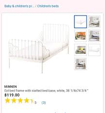 Used Child's white metal extendable bed for sale in Orlando - letgo