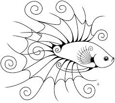 Small Picture Betta Outline DrawingOutlinePrintable Coloring Pages Free Download