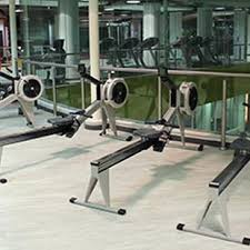 gym floor gym rowing machines
