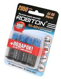 <b>Аккумулятор</b> Ni-Mh 2850 мА·ч <b>ROBITON AA</b> R6 Mignon 2850 ...