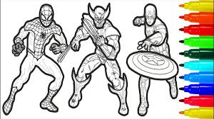 Avengers coloring pages are featured on 4 main characters iron man, hulk, captain america, thor, and with avengers: The Avengers Coloring Pages With Colored Markers For Young Children The Avengers Coloring Pages Youtube