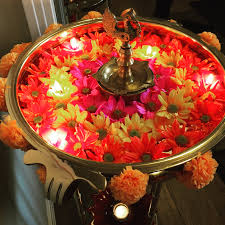 diwali decor urli flowers decoration puja pictures in room gallery