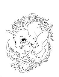 Unicorn Coloring Pages Free Printable Page Baby Color For Kids