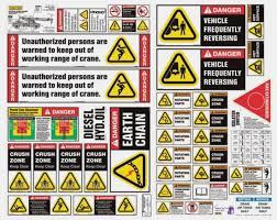 articulated crane safet sheet safety stickers safety decals crane warning labels