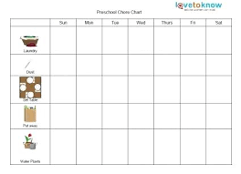 Free Printable Preschool Chore Chart The Mommy Ideas Make A