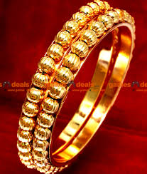 Latest South Indian Bangles Design Br020 2 8 Size Traditional Gold Beaded South Indian Gold