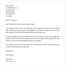 Letter Of Complain Template Complain Letters Samples Template Business