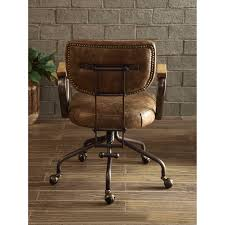 vintage leather office chair. Plain Leather Shop ACME Hallie Executive Office Chair Vintage Whiskey Top Grain Leather   NA Free Shipping Today Overstockcom 19398757 In Chair