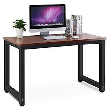 office desk workstation. Tribesigns Modern Simple Style Computer Desk PC Laptop Study Table Office Workstation For Home Office, Teak + Black Leg