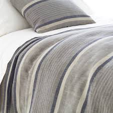 morocco cotton linen duvet cover in striped for