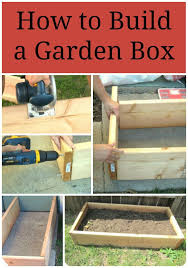 box gardens. step by directions on how to build a garden box for raised bed gardens -