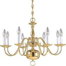 americana collection 8 light polished brass chandelier