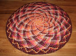 intricate optical illusion braided rug
