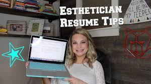 Esthetician Resume Tips W Sample Template Youtube